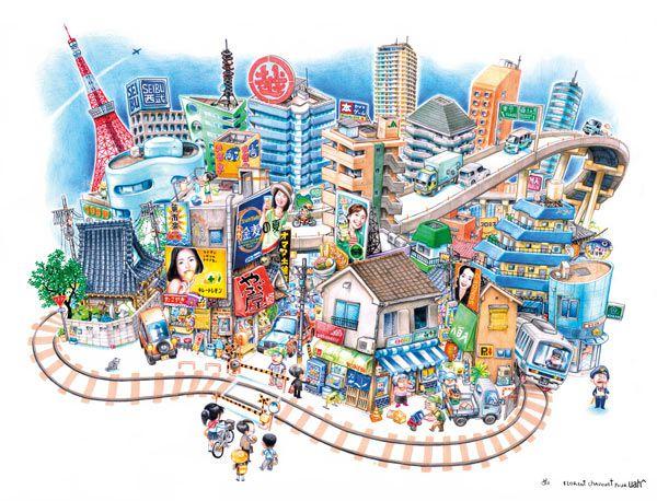 Ville Tokyo - Florent Chavouet