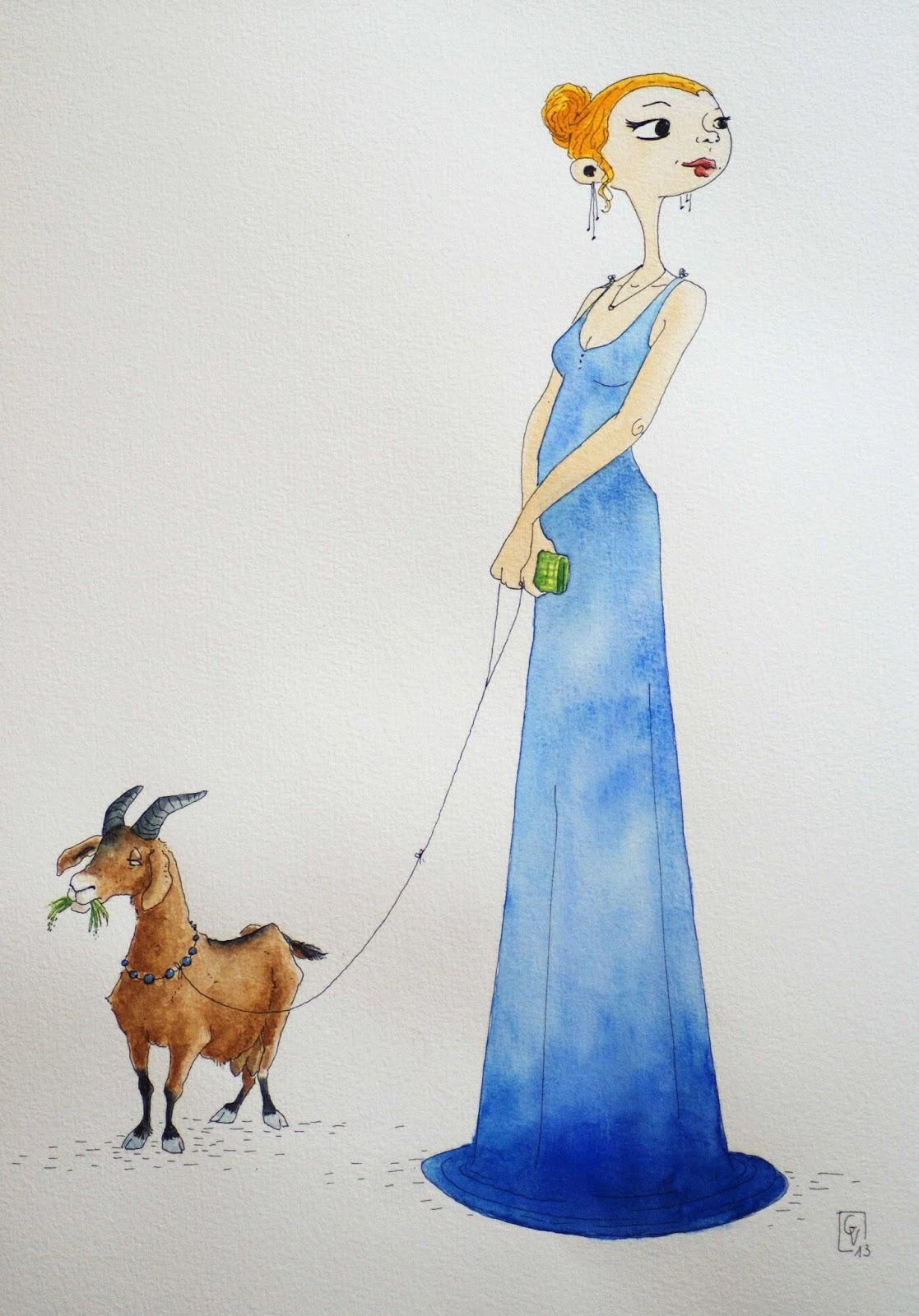 Femme + chèvre