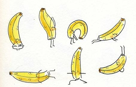 Assiette naturo - bananes