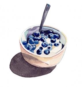 Assiette naturo - crème Budwig