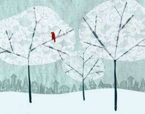 Assiette naturo - hiver