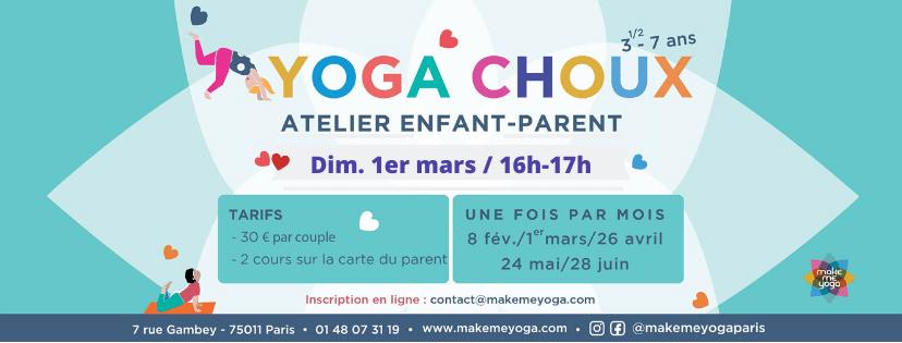 Dim. 01/03/20 – Yoga Choux, pour enfant et parent !
