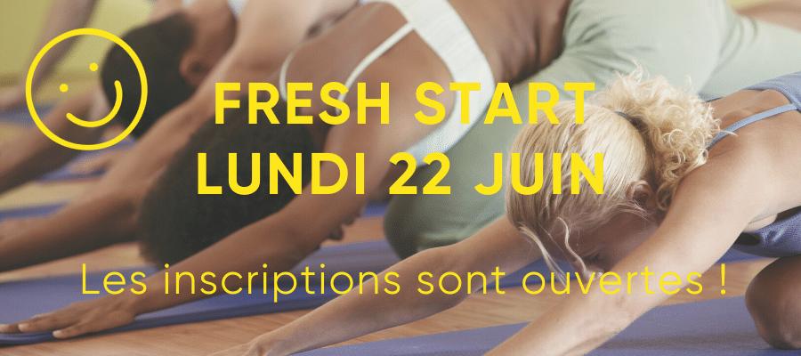 Réouverture studio de yoga – Lundi 22 juin